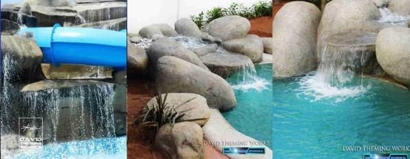 Rocas artificiales david theming works for Estanques artificiales construccion