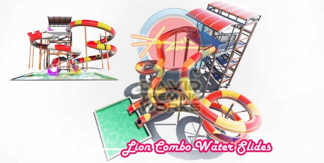 LION-COMBO-WATER-SLIDES -WATER-PARKS-1